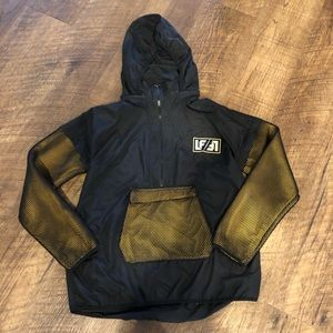 LF LOS ANGELES BLACK YELLOW WINDBREAKER PULL OVER